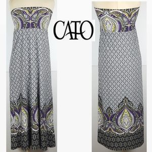 ☀️ CATO Ladies Size Small Strapless Maxi Dress
